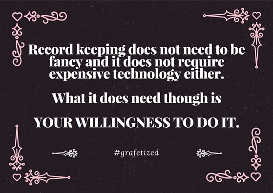 How would you feel if keeping records would be an inspirational task rather than a dreaded one? Get there with the help of a Vision Board. connygraf.com #grafetized