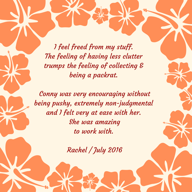 From Clutter to Peace Testimonial Rachel July 2016 / connygraf.com #grafetized
